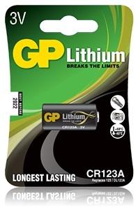 Pilha Lithium CR123A 3V - GP