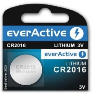 Pilha Lithium 3V CR2016 - everActive