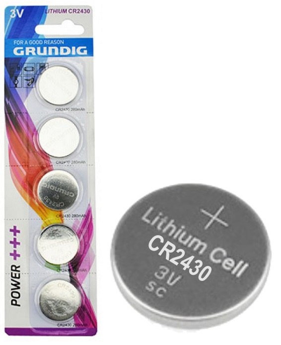 Pilha Lithium 3V CR2430 - GRUNDIG