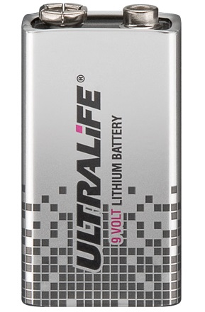 Pilha de Lithium 9V 6LR61 Alta Duração (8 a 10 anos) - ULTRALIFE