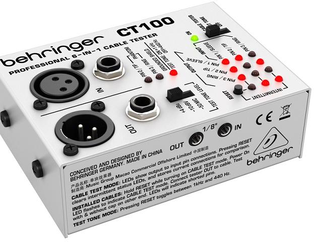 Testador de Cabos de Audio - Behringer