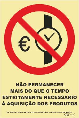 Sinal de Proibição de Exceder Limite de Tempo - Fotoluminescente (150mmx200mm)