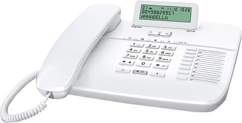 Telefone Digital (Rede Fixa) c/ LCD Gigaset DA710 Branco - SIEMENS