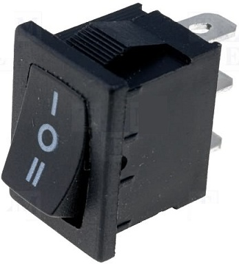 Interruptor Mini Unipolar SP3T ON-OFF-ON 3A