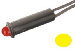 Led 5mm 220V c/ Fios (Amarelo)
