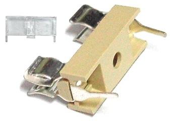 Porta Fusiveis 5x20 p/ Circuito Impresso (Tampa Incluida)