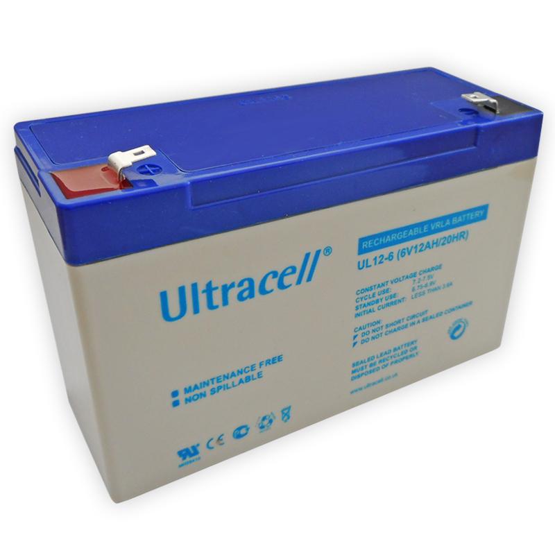 Bateria Chumbo 6V 12Ah (150 x 50 x 95 mm) - Ultracell