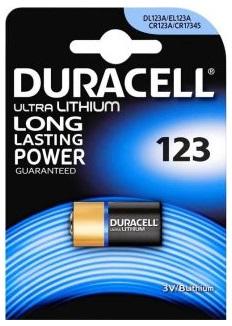 Pilha Lithium CR123A 3V - DURACELL