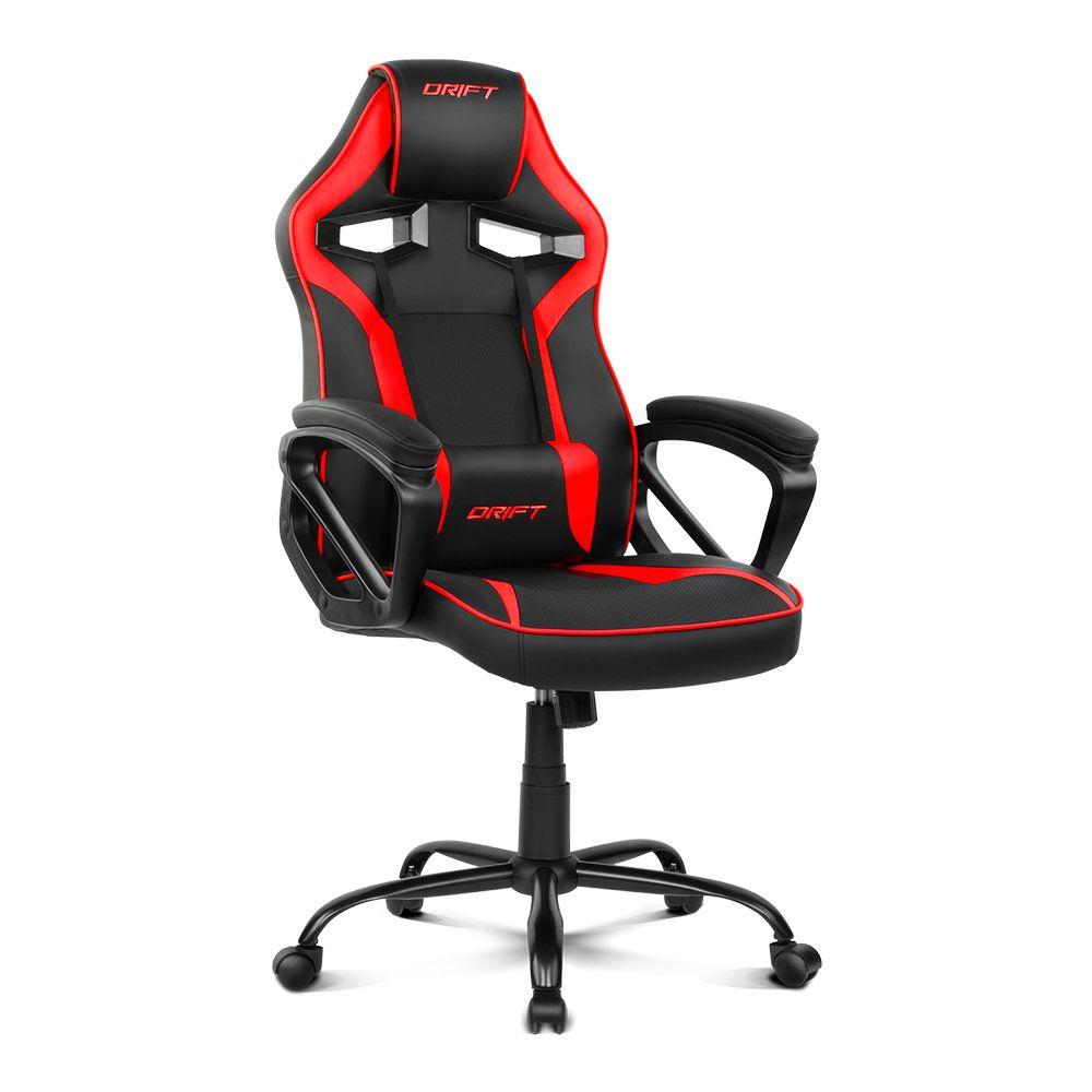 Cadeira Gaming DR50 (Preta/Vermelha) - DRIFT