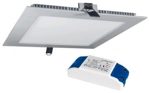 Painel de LED Quadrado (8,5 x 8,5cm) 5W 4000K - Aço Escovado