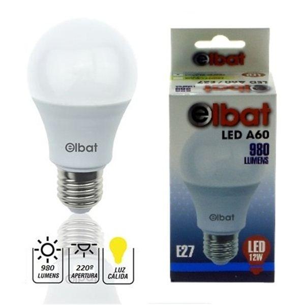 Lâmpada LED E27 A60 12W 3000K 980LM - ELBAT