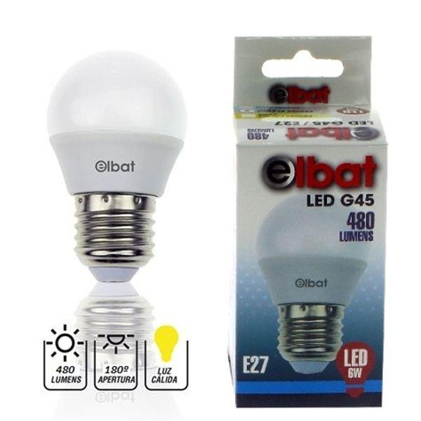 Lâmpada LED G45 6W 480LM E27 3000K - ELBAT