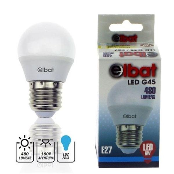 Lâmpada LED G45 6W 480LM E27 6500K - ELBAT