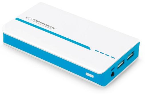Banco Portatil de Energia (POWER BANK) 11000mAh c/ Lanterna (Azul) - ESPERANZA