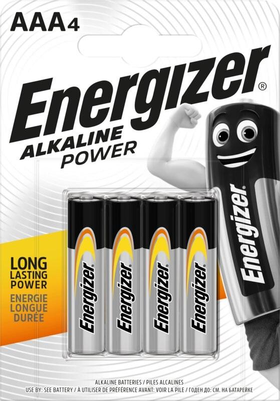 Blister 4 Pilhas Alcalinas 1,5V AAA / LR03 - ENERGIZER