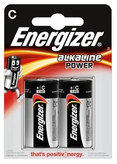 Blister 2 Pilhas Alcalinas 1,5V C / LR14 - ENERGIZER