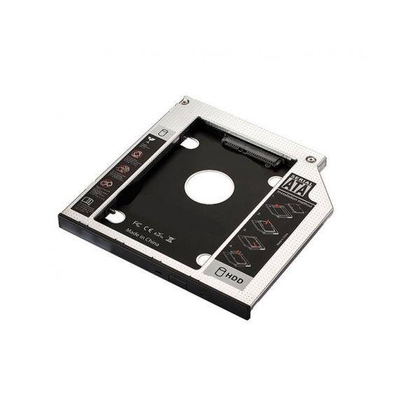 Adaptador SATA III SSD/HDD p/ Drive Slot CD/DVD/Blu-ray 9.5mm - EWENT