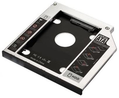 Adaptador SATA III SSD/HDD p/ Drive Slot CD/DVD/Blu-ray 12.7mm - EWENT