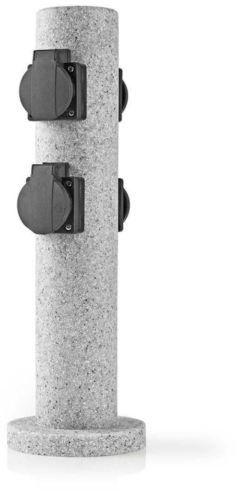 Extensão Quadrupla t/ Pedra p/ Jardim (Redondo) - NEDIS