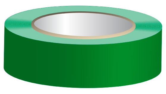 Fita Isoladora Verde 20 mts x 19 mm x 0,13 mm
