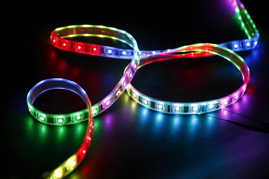 Fita 260 LEDs SMD5050 Flexivel IP65 RGB c/ Efeitos 12V - 5 mts