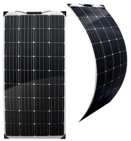 Painel Fotovoltaico Silicio Monocristalino 160W / 12V (Flexível) - ProFTC