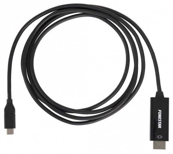 Cabo Conversor USB C 3.1 Macho -> HDMI A Macho (1,8 mts) - FONESTAR