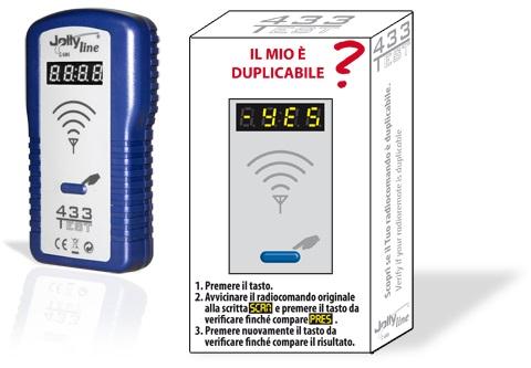 Frequêncimetro Digital LCD Portátil 433MHz - JOLLYLINE 433 TEST