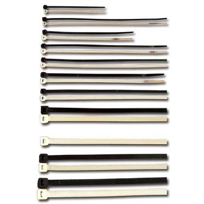 Abraçadeiras de Fivela 190 x 4,8 mm Preto (100pcs)