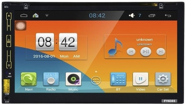 Auto Rádio 2 DIN Ecrã Tátil 7 Bluetooth/GPS/DVD/ANDROID 5.1 Lollipop (FY6307C) - ProFTC