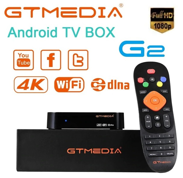 BOX ANDROID 7.1.2 IPTV 4K HEVC/H.265 2/16GB WIFI - GT-MEDIA