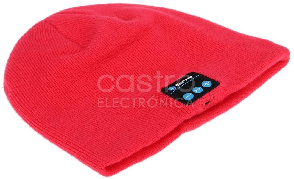 Gorro de Lã com Auscultadores Bluetooth 3.0 - Vermelho