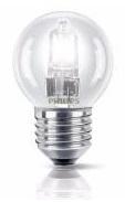 Lampada Lustre Halógeneo E27 28W (=40W) 220V