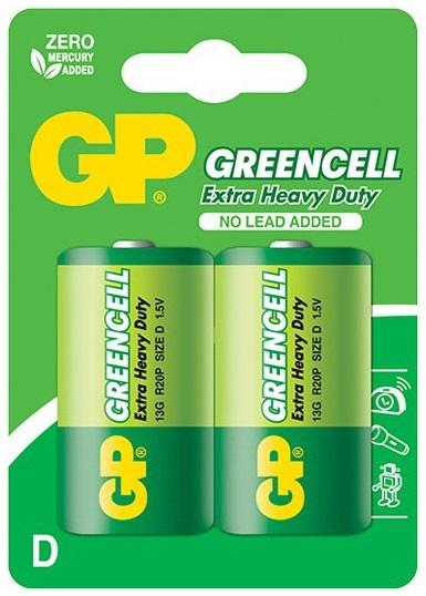 Blister 2 Pilhas GREENCELL R20 / D - GP