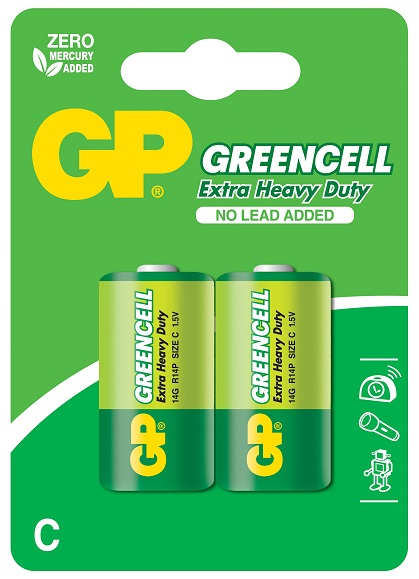 Blister 2 Pilhas GREENCELL R14 / C - GP