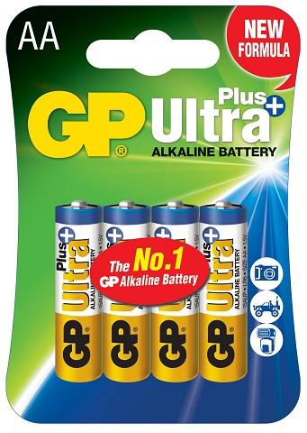 Blister 4 Pilhas Alcalinas LR6 AA (ULTRA PLUS+) - GP
