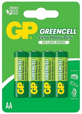 Blister 4 Pilhas GREENCELL R6 AA - GP