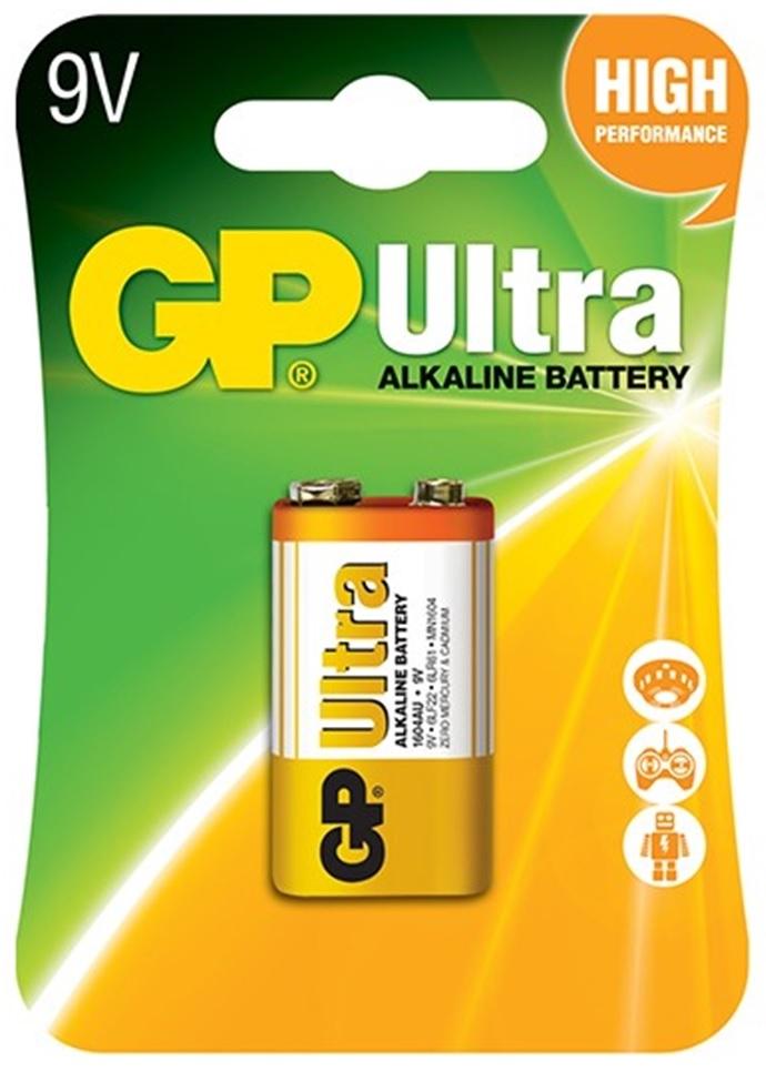 Pilha Alcalina 6LR61 9V (ULTRA) - GP