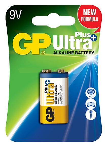 Pilha Alcalina 6LR61 9V (ULTRA PLUS+) - GP