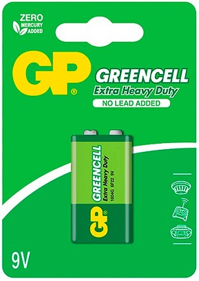 Pilha GREENCELL 9V 6LR61 - GP