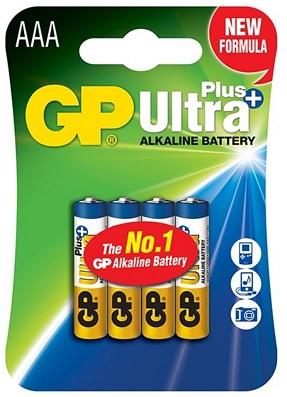 Blister 4 Pilhas Alcalinas LR03 AAA (ULTRA PLUS+) - GP