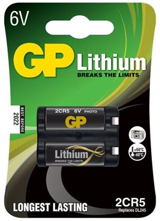 Pilha Lithium 2CR5M 6V - GP