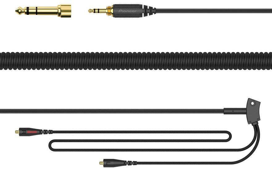 Cabo de Áudio Espiral Substituição p/ Auscultadores PRO HDJ-C70 - Pioneer