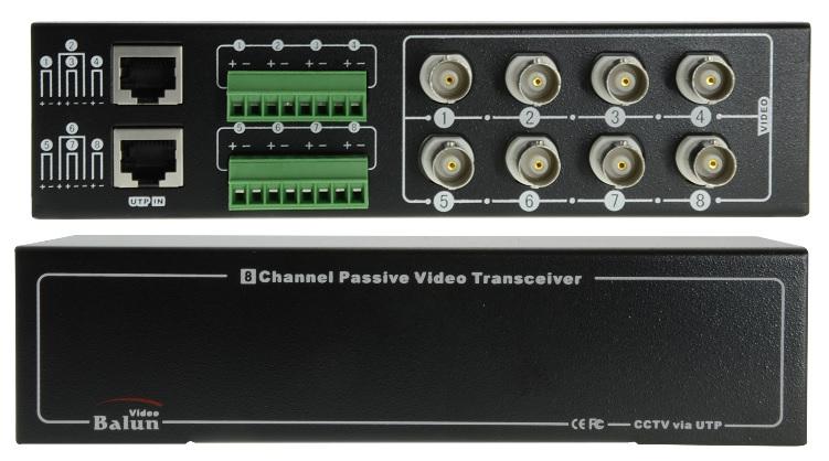 Transmissor/Receptor 8 Camaras CCTV por Cabo UTP RJ45 (Optimizado para HDTVI / HDCVI / AHD)