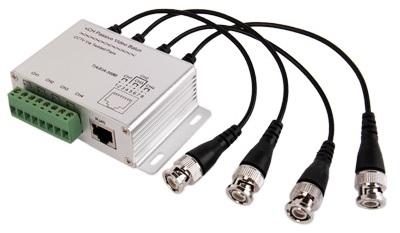 Transmissor/Receptor 4 Camaras CCTV por Cabo UTP RJ45 (Optimizado para HDTVI / HDCVI / AHD)