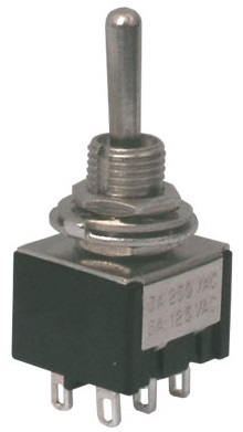 Interruptor Mini Alavanca (ON)-OFF-(ON) Pressão 3A