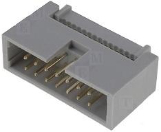 Ficha IDC 14 Pinos (2x7) Macho p/ Flat-cable