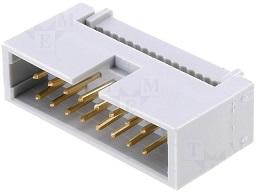 Ficha IDC 16 Pinos (2x8) Macho p/ Flat-cable