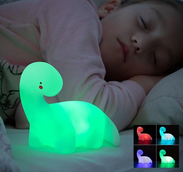 Candeeiro Dinossauro Multi-Colorido LED (a Pilhas) - ProFTC