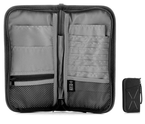 Carteira de Viagem Electrónica RFID Anti-Furto (13 x 24 x 3 cm) - ProFTC